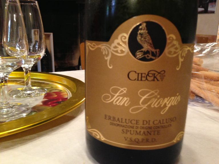 San Giorgio Sparkling Wine. Grape: Erbaluce.