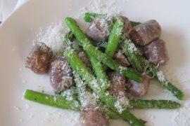Asparagus and sausage recipe