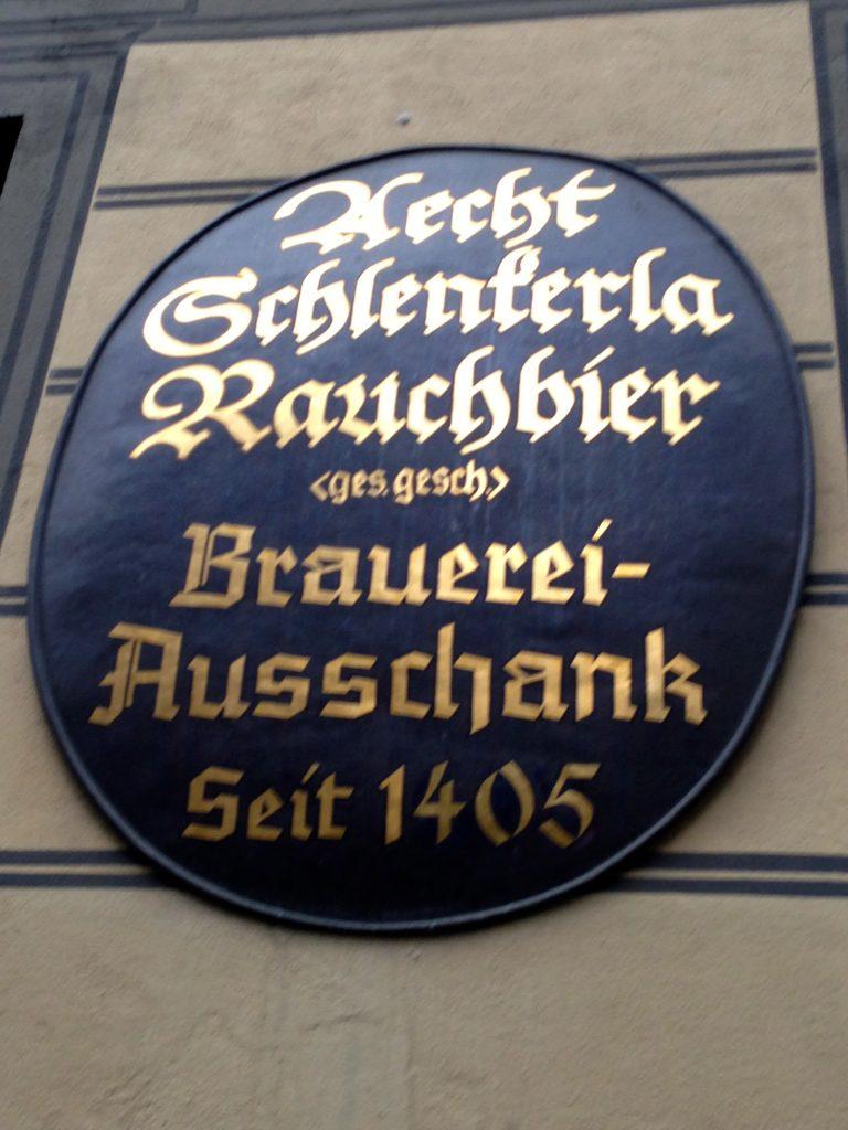Bamberg Bier Garten, opened in 1405.