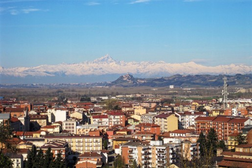 Alba, Italy with Monviso
