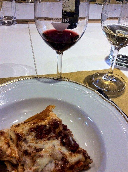 Lasagna at MaMa Florence Cooking School