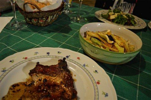 Pork Steak in Red Wine