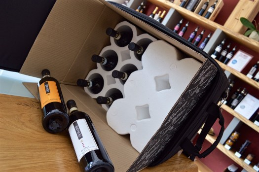Bringing wine home from italy