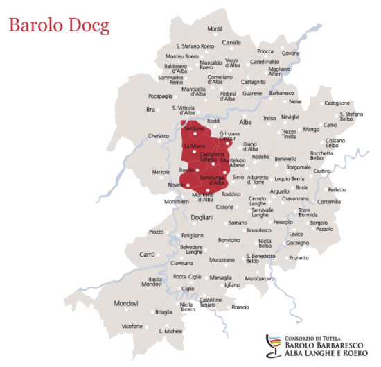 Barolo DOCG Map